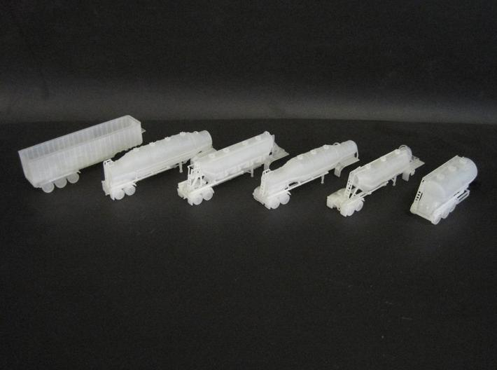 N scale 1/160 Dry Bulk 1625 Trailer 09b 3d printed Some more images of my N-scale trailers
