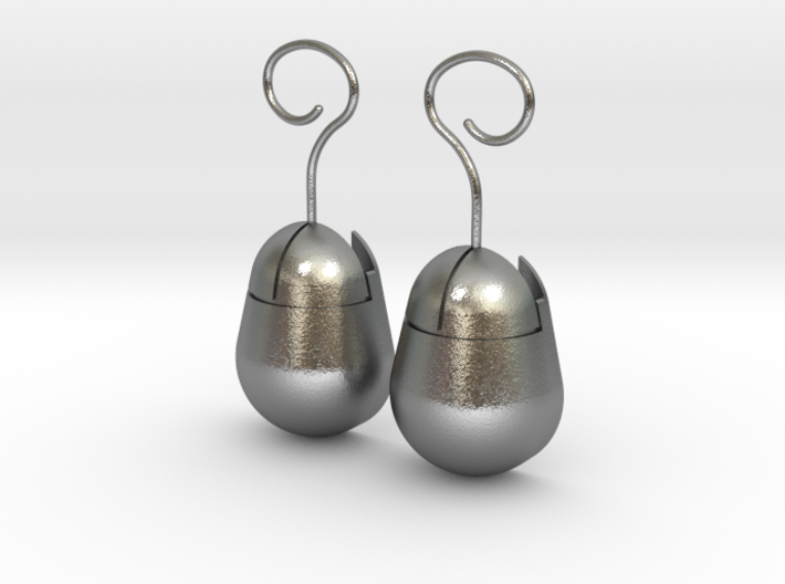Mouse SD Card Holder Earrings (Rounded) 3d printed