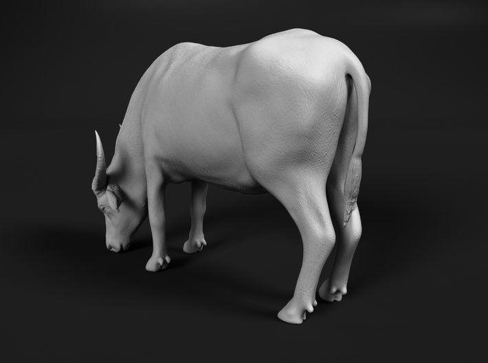Domestic Asian Water Buffalo 1:9 Grazing Female 3d printed