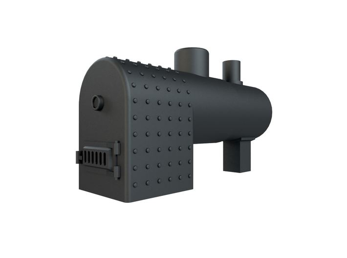 Horizontal boiler (stationary) HO Scale 3d printed