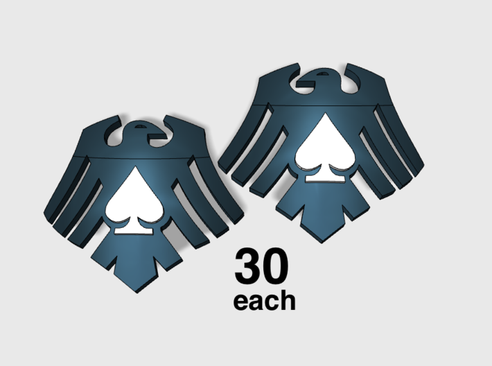 60x Raven Ace : Shoulder Insignia pack 3d printed