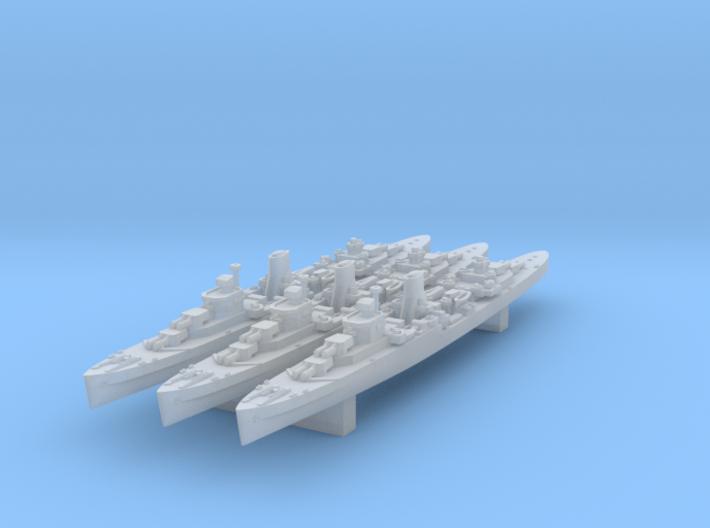1/3000 Leander Class x3 (FUD) 3d printed