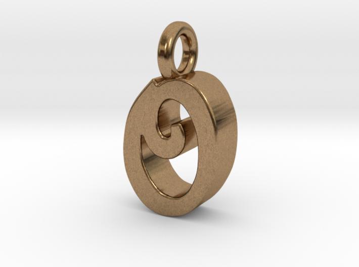O - Pendant 3mm thk. 3d printed