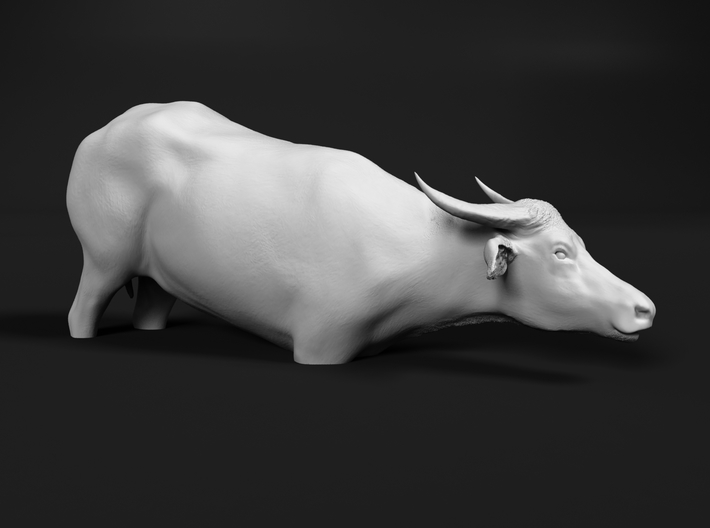 Domestic Asian Water Buffalo 1:48 To Deeper Water 3d printed