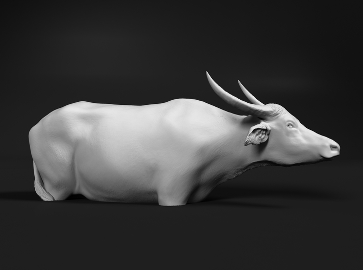 Domestic Asian Water Buffalo 1:76 In Deep Water 3d printed