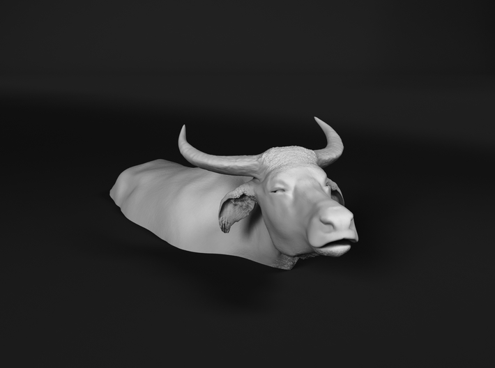 Domestic Asian Water Buffalo 1:76 Lying in Water 1 3d printed