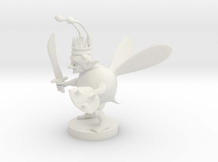 Goblin Bard Bee King 3d printed