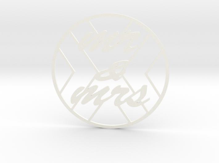 monogram coasters 3d printed