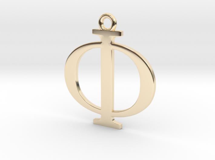 Phi Golden Ratio Pendant 3d printed