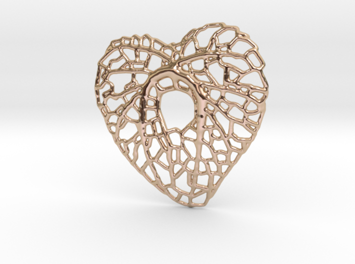 Leaf Heart 3d printed
