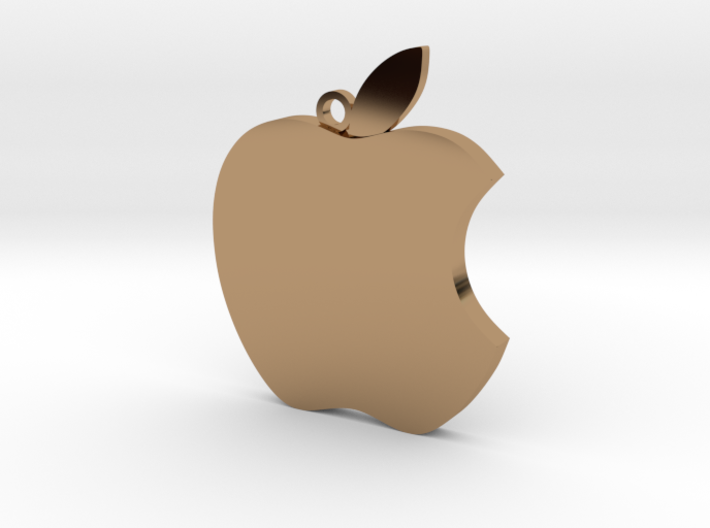 Apple logo in 3D 3d printed
