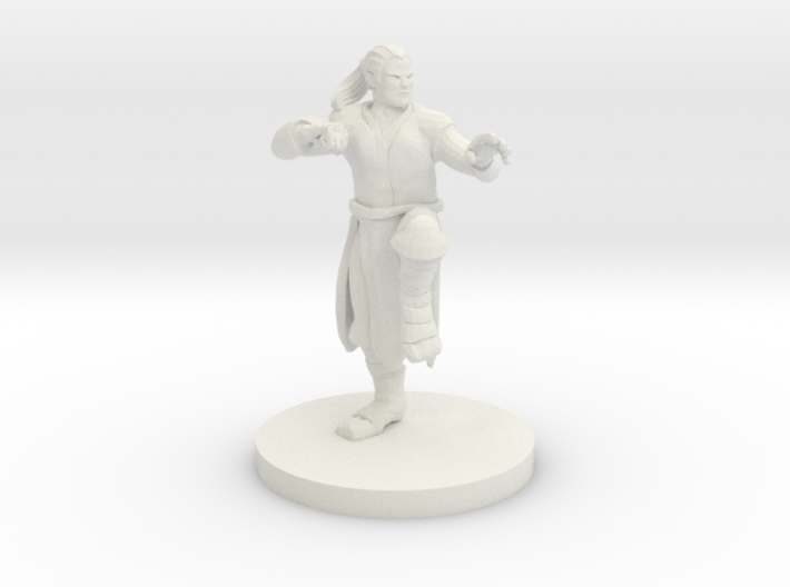 Human Male Monk 3d printed