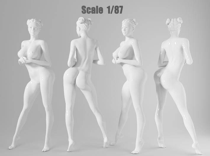 1:87 Sexy little girl in 2cm-003 3d printed