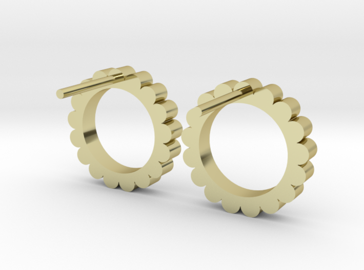 Ingranaggi - Stud Earrings 3d printed