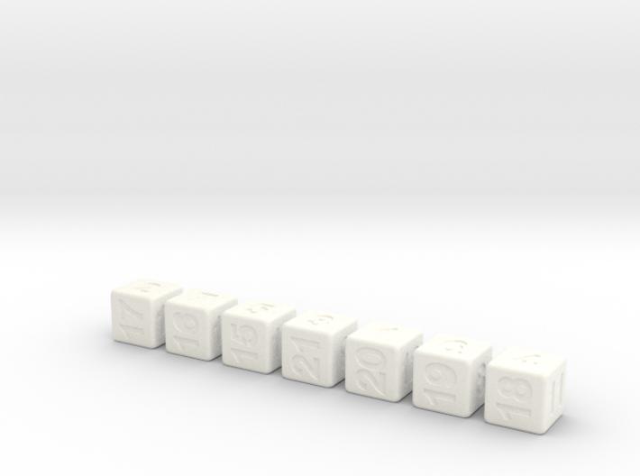 Seven Non-Transitive Dice 3d printed