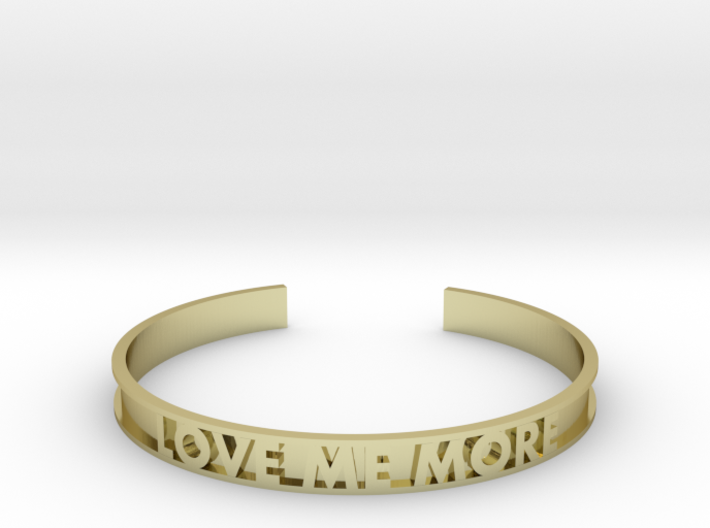 LOVE ME MORE cuff bracelet 3d printed