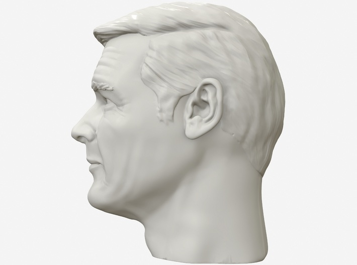 Roger Moore portrait head 3d printed