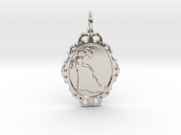 Victorian Cameo / Valentine's gift 3d printed