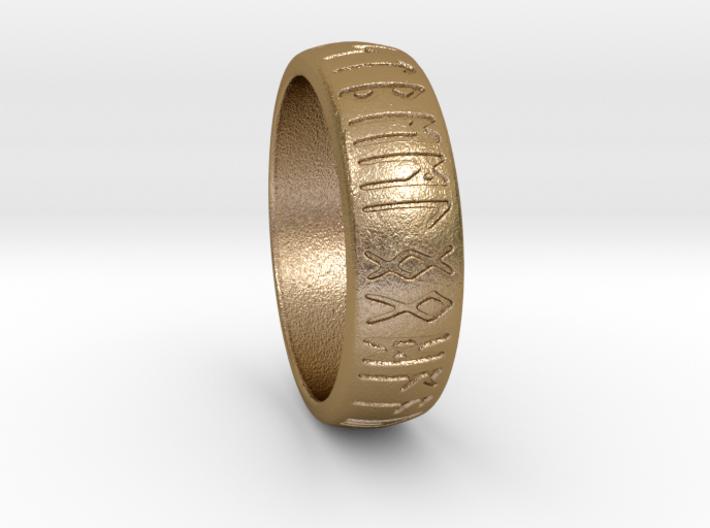 Saxon Rune Poem Ring  3d printed