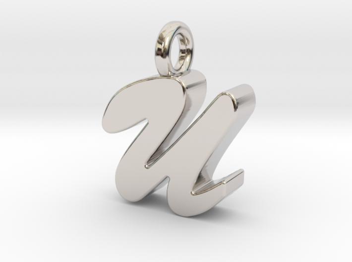U - Pendant 3mm thk. 3d printed