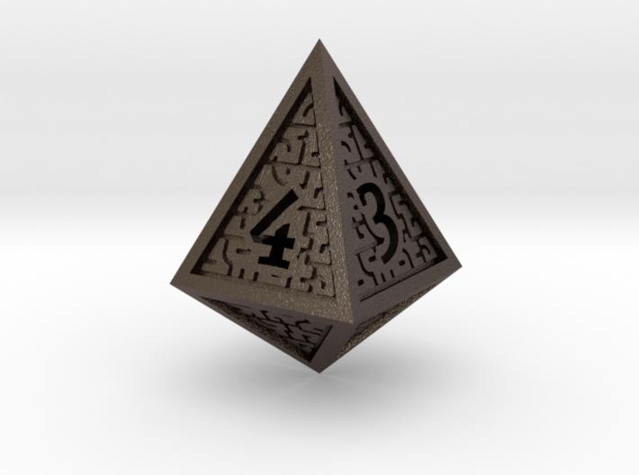 Hedron D4 (Hollow), balanced gaming die 3d printed