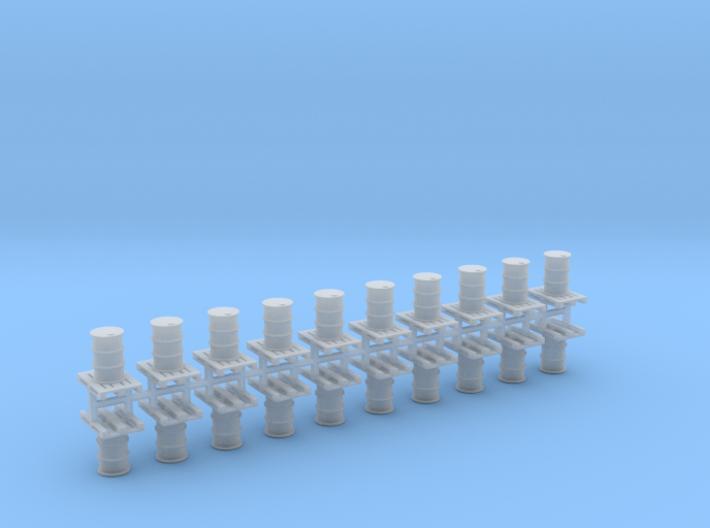 200 Liter Faß auf Europalette 10er Set - 1:120 TT 3d printed
