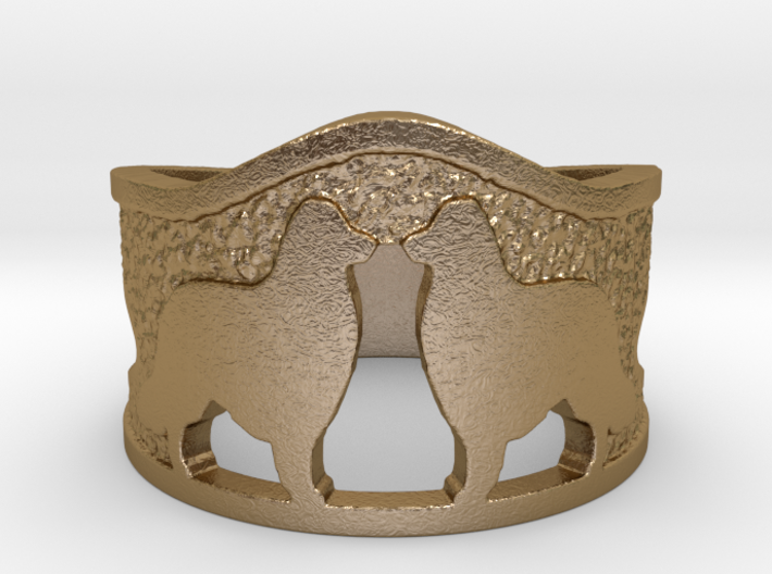 Collies Face Off Rings 3d printed