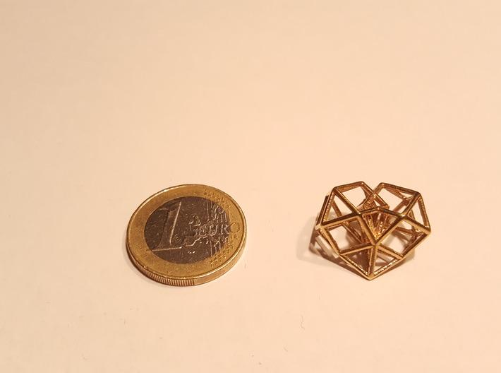 Pendant_Cuboctahedron-Heart 3d printed