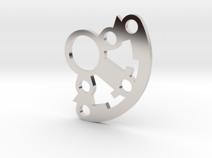 Thin Crystal holder 3d printed