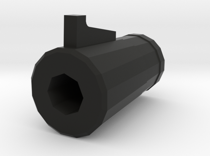 """TF2 """"Classic"""" Sniper Rifle Airsoft Muzzle (14mm Se 3d printed"""