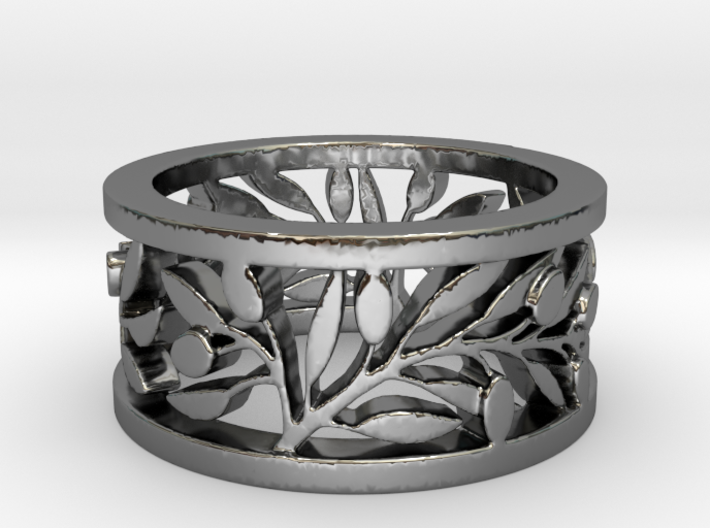 Longs Rameaux Patricia Ring Size 8 3d printed