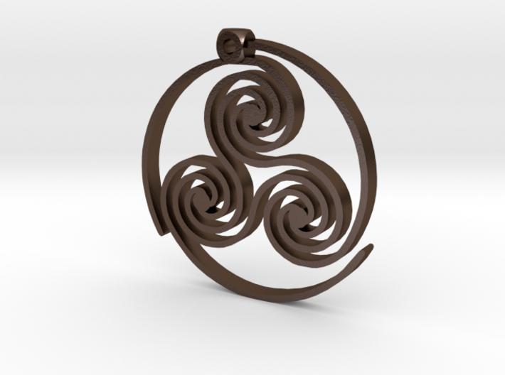 Triskelion Pendant 3d printed