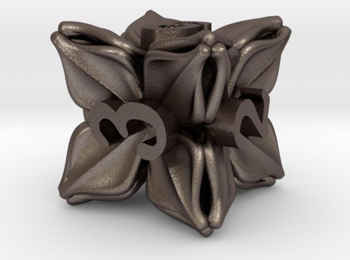 Floral Dice – D6 Gaming die 3d printed