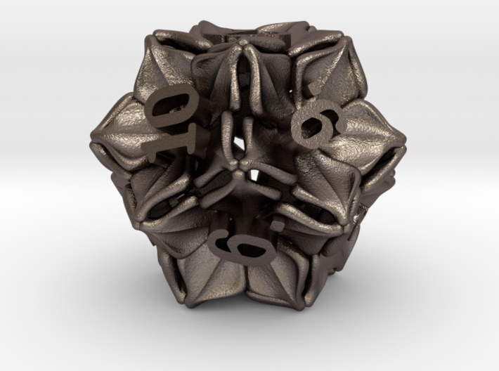 Floral Dice – D12 Gaming die 3d printed