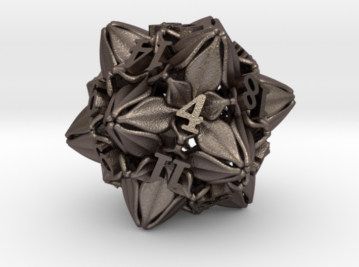 Floral Dice – D20 Gaming die 3d printed