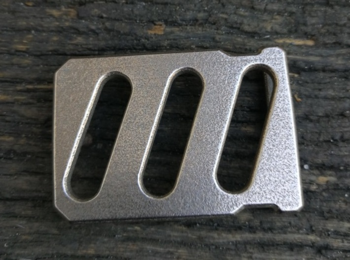Industrial Belt Buckle 3d printed Stainless Steel version