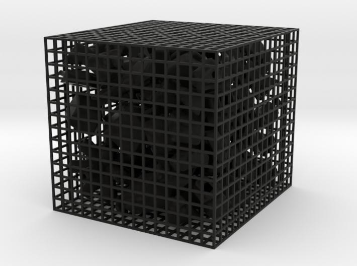 4+4 corners cube 3d printed