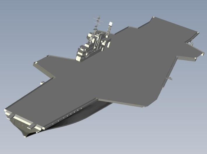 1/1250 scale USS Midway CV-41 aircraft carrier x 1 3d printed
