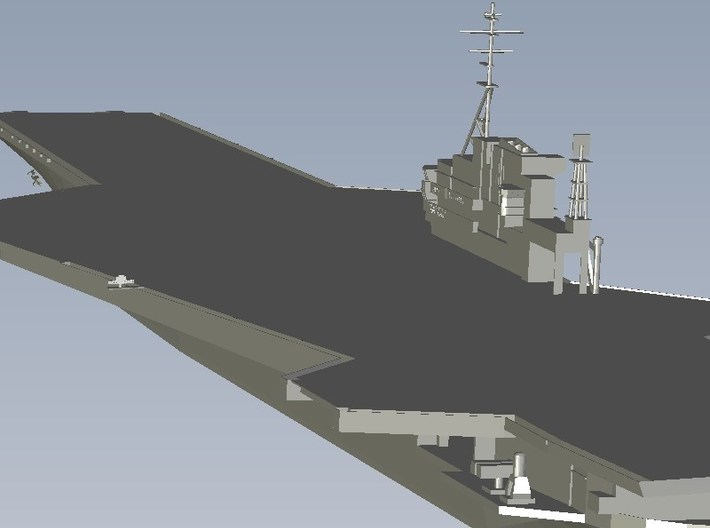 1/1250 scale USS Midway CV-41 aircraft carrier x 2 3d printed