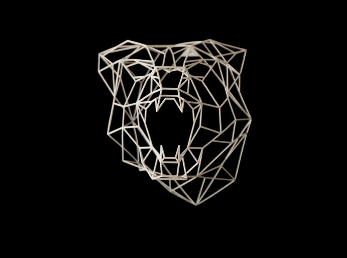 Wire Frame Wolf decor-L 3d printed This is an XL size White Strong & Flexible material photo
