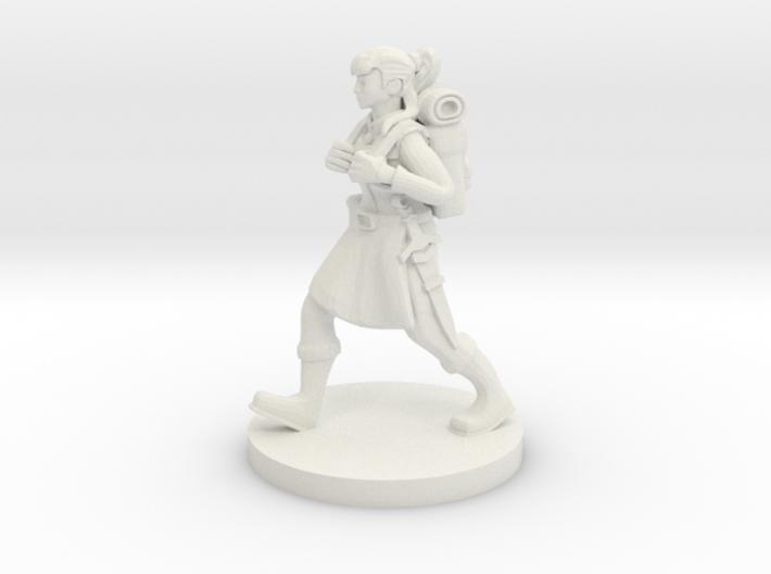 Traveling Female Adventurer 3d printed