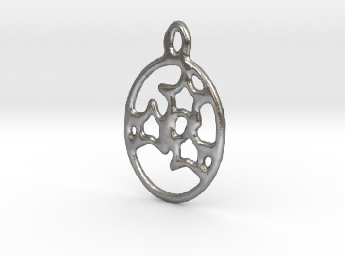 Oval 3 Star earring 3d printed