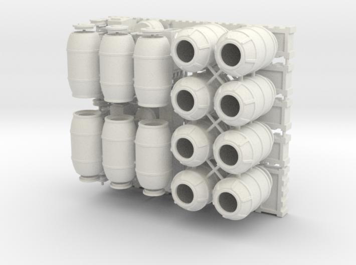 DeAgo Falcon 1/43 Cargo Barrels Boxes & crates 3d printed