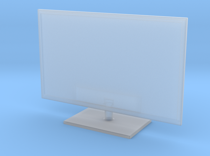 "1:48 (O SCALE) 32"" LED TV FLAT SCREEN (V1.2) 3d printed"