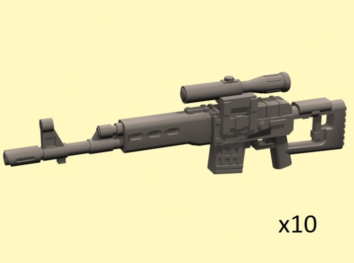 28mm SVD style sniper laser rifles 3d printed