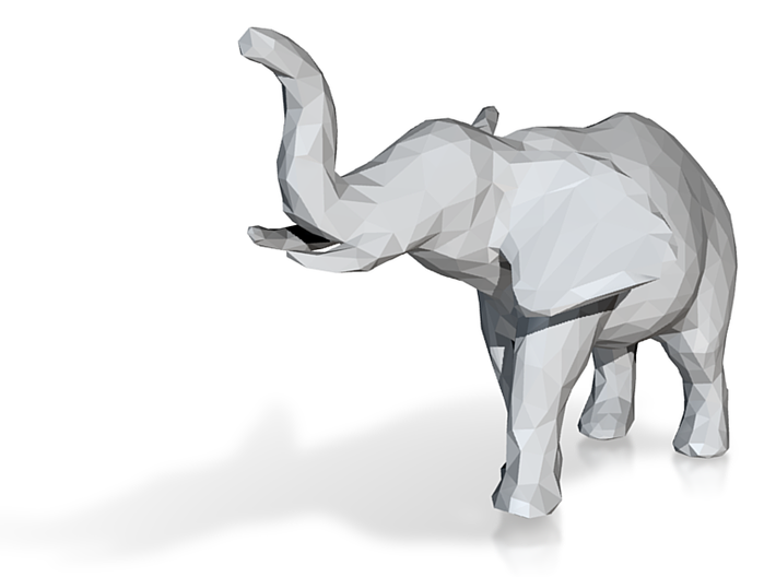 elephant - low poly 3d printed