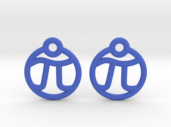 Tiny Pi Earrings 3d printed