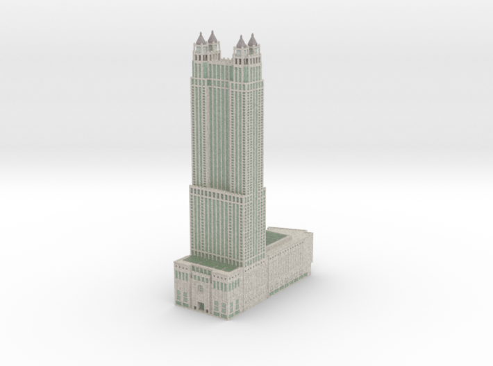 900 North Michigan (1:2400 scale) with color 3d printed