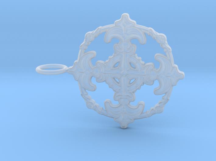 Croix Fleur de Lys baroque cercle3 3d printed