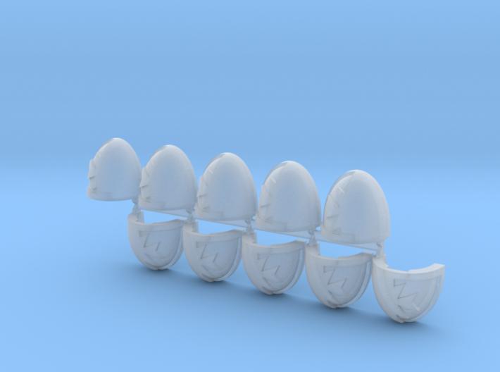 Space Templars Shoulder Pads #5 L X10 3d printed